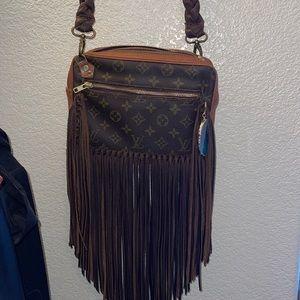 Revamped Louis Vuitton fringe crossbody boho bag